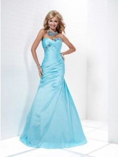 Trumpet/Mermaid Sweetheart Beading Sleeveless Floor-length Taffeta Dress