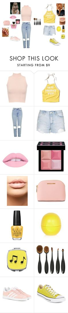 """Untitled #5"" by daniella-sitte on Polyvore featuring WearAll, Hollister Co., Topshop, Givenchy, MDMflow, MICHAEL Michael Kors, GUESS, OPI, River Island and adidas Originals"