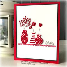 Varied Vases and Lovely Lipstick. www.MakingMemorieswithMichelle.com Stampin' Up! © 2018