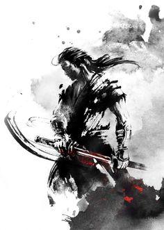 back in its sheath by Jungshan on DeviantArt Ronin Samurai, Samurai Warrior, Tatoo Geisha, Ronin Tattoo, Japanese Art Samurai, Dog Face Drawing, Japanese Wallpaper Iphone, Samurai Wallpaper, The Last Samurai