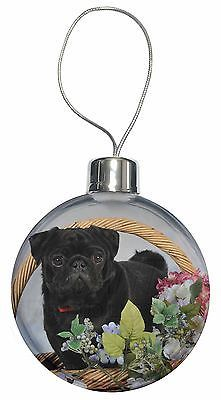 #Black pug dog #christmas tree bauble decoration #gift, ad-p95cb,  View more on the LINK: 	http://www.zeppy.io/product/gb/2/191914950264/
