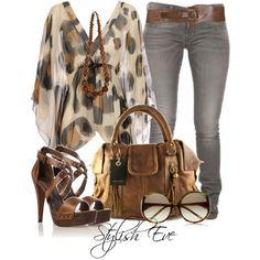 Noha by stylisheve featuring a leopard tunic Leopard tunic $395 - brownsfashion.com Skinny jeans meinto.com Carvela high heel shoes $125 - debenhams.com Marni theoutnet.com Belt xanaka.com