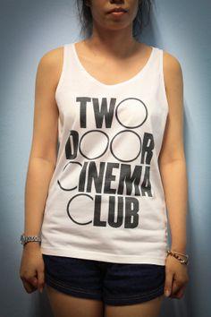 Two Door Cinema Club Rock Band Shirt Tank Top Tanktop Tshirt T Shirt Women Size M,L,XL