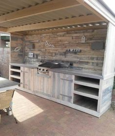 This pallet Dream Kitchen is so over-the-top, but it is actually not too complicated of a build. That's why it's our all-time favorite of our Pallet Barbecue Projects!