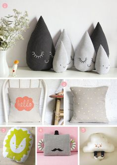 Cute pillows for kids.