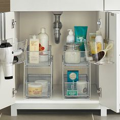 Enjoy free shipping on all purchases over $75 and free in-store pickup on the Silver 2-Drawer Mesh Organizer at The Container Store. Our 2-Drawer Mesh Organizer is perfect for keeping cleaning supplies tidy, food packets and boxes organized, and toiletries in order. The tight-weave silver mesh provides visibility of the contents while preventing small items from falling through. Great for use in upper or lower cabinets in the kitchen and bath, on a countertop and in the pantry. Each basket…