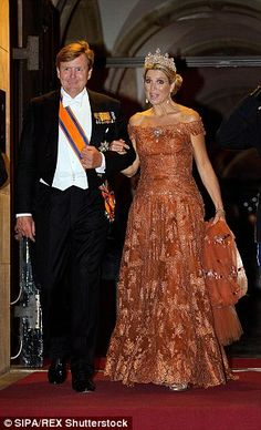 Queen Maxima and King Willem-Alexander, Princess Margriet, Princess Beatrix, Pieter van Vollenhoven held a gala dinner for the members of the Corps Diplomatique at the Royal palace in Amsterdam on June 24, 2015.