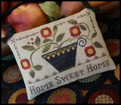Home Sweet Home is the title of this cross stitch pattern from Little House Needleworks that is stitched with Classic Colorwork