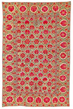 Bukhara suzani, Uzbekistan, mid-19th century. Estimate €12,000