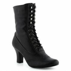 Boots/Bottines noir pour Femme : Boots/Bottines Laureana - 49,99€ - Very Victorian, can pass for Edwardian.