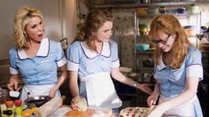 Waitress - Publicity still of Keri Russell, Cheryl Hines & Adrienne Shelly. The image measures 2000 * 1331 pixels and was added on 19 April Waitress Musical, Musical Theatre, Good Comedy Movies, Funny Movies, Awesome Movies, Romance Movies, Chocolate Mousse Pie, Love Chocolate, Butterflies