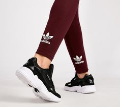 reputable site 2ea9d 4bbaf adidas Originals Womens Trefoil Tonal Legging  Maroon  Footasylum