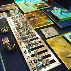 Metal Jewellery Display, Ring Stand, Little Rock Jewellery Studio