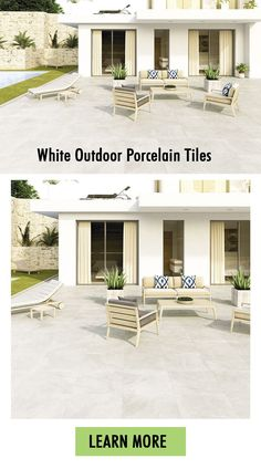 Outdoor tiles are so common in Ireland that many home-owners have understood the advantages of laying them on their back gardens. Slaterock White contains a lightly textured finish, charming light grey tone and moderate natural stone pattern. This is a great option for those who want to elevate their back garden. Outdoor porcelain tiles is a great alternative to natural stone in Ireland. Outdoor Paving, Outdoor Tiles, Outdoor Decor, Outdoor Porcelain Tile, White Porcelain, Porcelain Tiles, Patio Tiles, Paving Slabs, Back Gardens