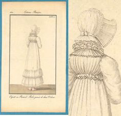 Pink shoes antique fashion print 1812 Regency by SylvestraRegency