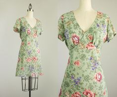 Cherie Vintage // 90s Vintage Sage Green by ShopCherieVintage
