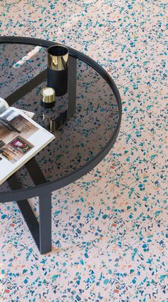 Roma is a Pastel Terrazzo Vinyl Flooring design that features a soft pastel pink background and multicoloured marble speckles for colourful, unique take on Terrazzo. Incorporate stylish terrazzo into your commercial or domestic space with a unique, modern, multicolour design. Paired with the right accessories and furniture, this floor can look super stylish and modern, with little effort and cost.#vinyl#flooring inspiration#design#decor