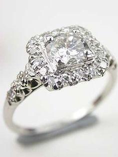 Jabel 1940's Vintage Diamond Bridal Rings