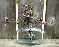 Celtic Spiral Hanging Vase Wide Flat Flask by nicholasandfelice, $ 18.00