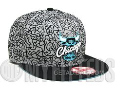 62eace81e7a Custom Elephant Print Chicago Bulls NEW ERA 9Fifty Snapback Cap For Air  Jordan 3Lab5 Jordan Hats