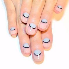 Moon nail art.