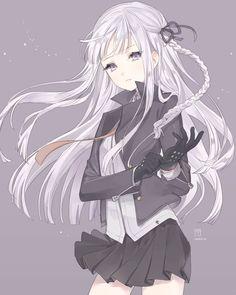 White purple hair girl