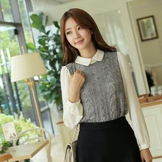 Buy 'CLICK – Collared Cable-Knit Blouse' with Free International Shipping at YesStyle.com. Browse and shop for thousands of Asian fashion items from South Korea and more!