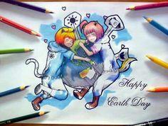 Zeeyafa dan.... lupa OCnya ka Dony. Happy Earth Day. ^^