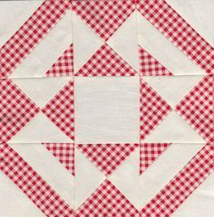 Jack knife block - Farmer's wife quilt sampler