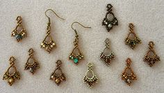 Linda's Crafty Inspirations: Pattern Review: Tiny Treasures Earrings