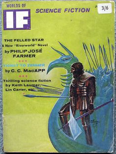 Worlds of If Science Fiction (July 1967) // Cover by Jack Gaughan