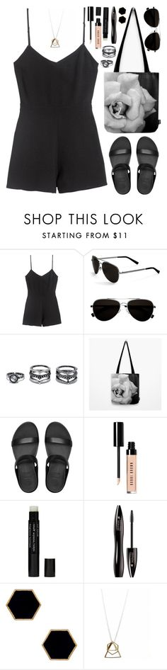 """OOTD • Black Jumpsuit"" by by-jwp ❤ liked on Polyvore featuring Calvin Klein, Lulu*s, FitFlop, Bobbi Brown Cosmetics, retaW, Lancôme, Janna Conner Designs, summerstyle, summeroutfit and blackoutfit"