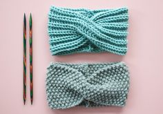 Free knitting instructions: headband with twist Free knitting instructions . - Free knitting instructions: headband with twist Free knitting instructions: headband with - Easy Knitting Projects, Knitting Blogs, Knitting Patterns Free, Free Knitting, Baby Knitting, Twists, Knitted Headband, Knitted Hats, Crochet Headbands