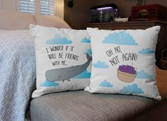 Buttons aren't toys! They make Hitchhiker's Guide to the Galaxy pillows!!! This is my favorite part of the movie :)