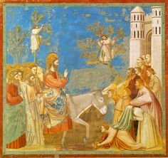 One of Giotto's frescoes from his series on the life and passion of Jesus, in the Arena Chapel in Padua