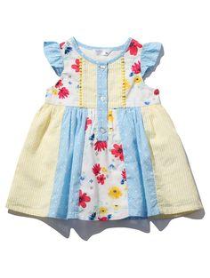 Floral Patchwork Dress Cute Pumps, Panel Dress, Patchwork Dress, Pleated Skirt, Baby Dress, Baby Shop, Cap Sleeves, Girl Outfits, Summer Dresses