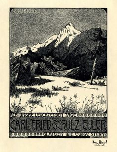 Bookplate by Herman Robert Hirzel Catumby for Carl Friedrich Schulz-Euler, 1903