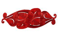 Zia Beaded Runner, Red. Satin and beads runner sweet!