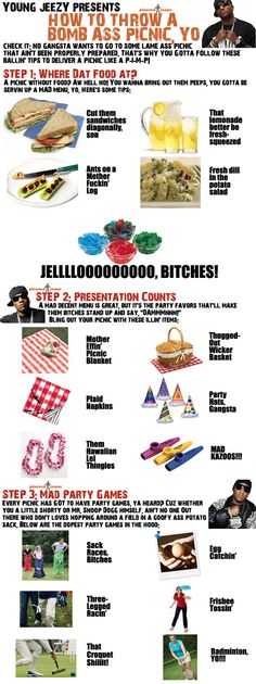 Young Jeezy on throwing a bomb ass picnic, yo  (made my own to get all three parts on a single pic, but props to @Pleated-Jeans.com for the orig)