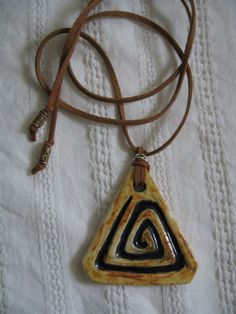 Triangle spiral ceramic jewelry