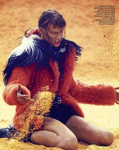 Tess Hellfeuer by Olaf Wipperfürth for Marie Claire France September 2014