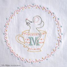 Embroidery Pattern PDF M is for Mouse In a от sherimcculley