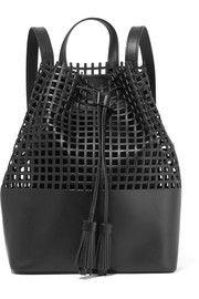 Loeffler RandallPerforated leather backpack