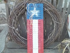 #Recycle an old window shutter into a painted flag decoration