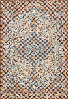 Loving the print in this Rugs USA Chroma Maria Modern Mosaic Medallion CB24 Rug!