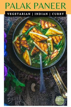 Learn to make palak paneer recipe, restaurant style! This creamy vegetarian spinach recipe is one of the popular palak recipes made with grilled paneer. Paneer Recipes, Garlic Recipes, Spinach Recipes, Vegetarian Recipes, Vegan Vegetarian, Healthy Recipes, Delicious Recipes, Healthy Food, Grilled Paneer