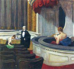 Two on the Aisle - Edward Hopper