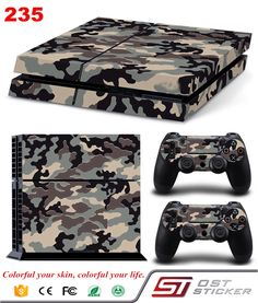 Camouflage Plastic Vinyl Skin Sticker For Sony Playstation 4 Console with 2 Controllers Cover For Gamepad Joypad Decal Best Camouflage, Mundo Nerd, Playstation 4 Console, Ps4 Skins, Gaming Accessories, Star Wars Darth, Consumer Electronics, Video Games, Cover