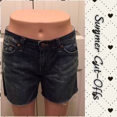 """Joe Jeans Cut-Offs Great distressed Cut-offs Size 30  Rise 8""""  Inseam 5""""  Waist 35"""" Very Comfy to wear  Great for those care free days! *19 Joe's Jeans Shorts Jean Shorts"""
