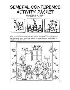 Mormon Cartoonist: Your October 2015 General Conference Activity Packet